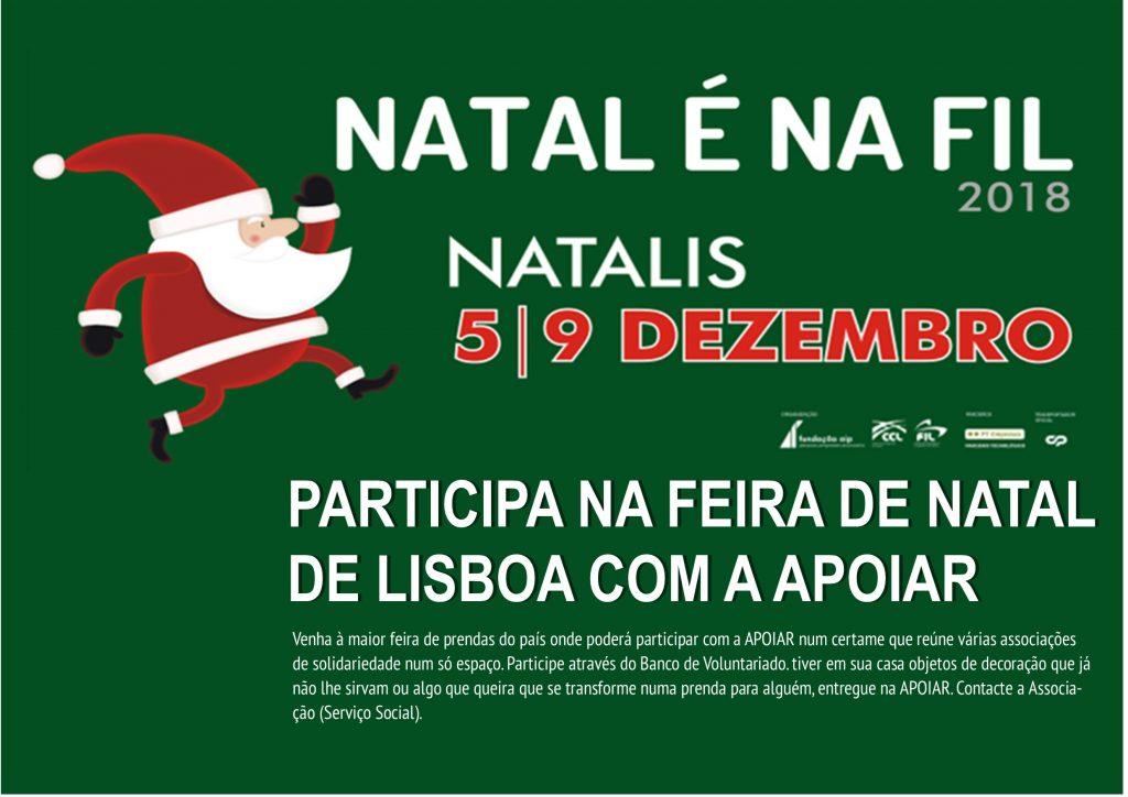 APOIAR na NATALIS 2019 5 a 9 de Dezembro na FIL